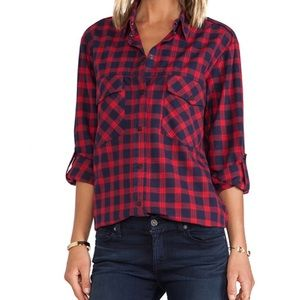 Sanctuary Plaid Snap Button Front Shirt